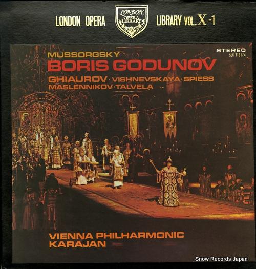 KARAJAN, HERBERT VON mussorgsky; boris godunov SLC7161/4 - front cover