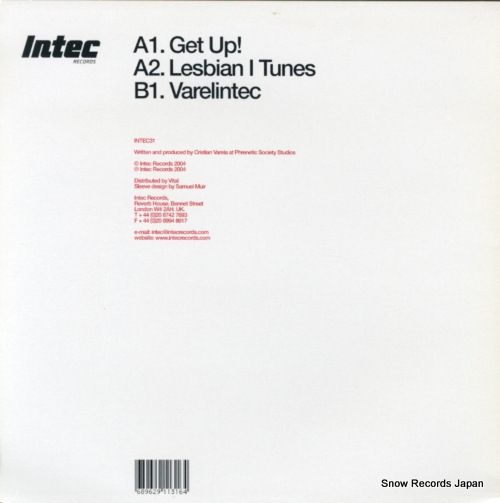 VARELA, CRISTIAN get up! INTEC031 - back cover