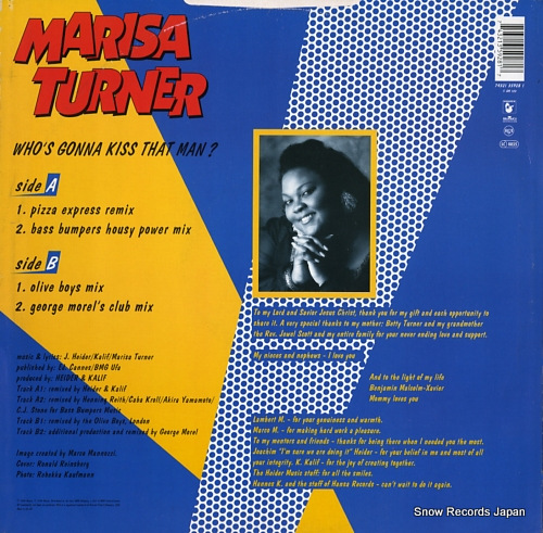 TURNER, MARISA who's gonna kiss that man? 74321359281 - back cover