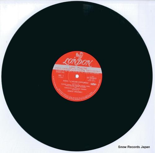 ANSERMET, ERNEST ravel; l'heure espagnole (complete) GT9246 - disc
