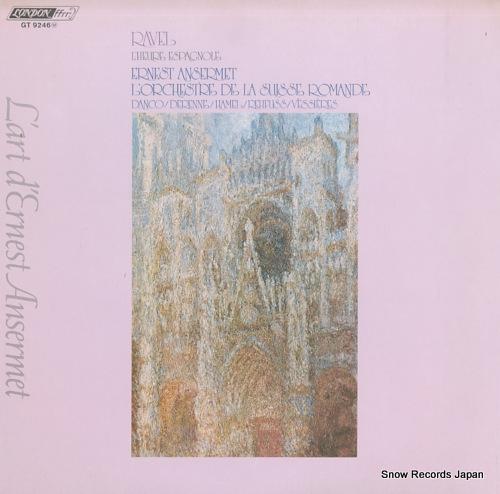 ANSERMET, ERNEST ravel; l'heure espagnole (complete) GT9246 - front cover