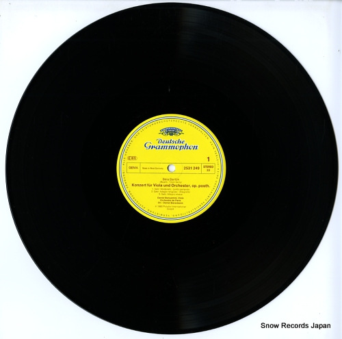 BENYAMINI, DANIEL bartok; konzert fur viola und orchester 2531249 - disc