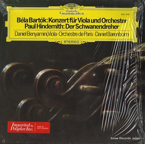 BENYAMINI, DANIEL bartok; konzert fur viola und orchester 2531249 - front cover