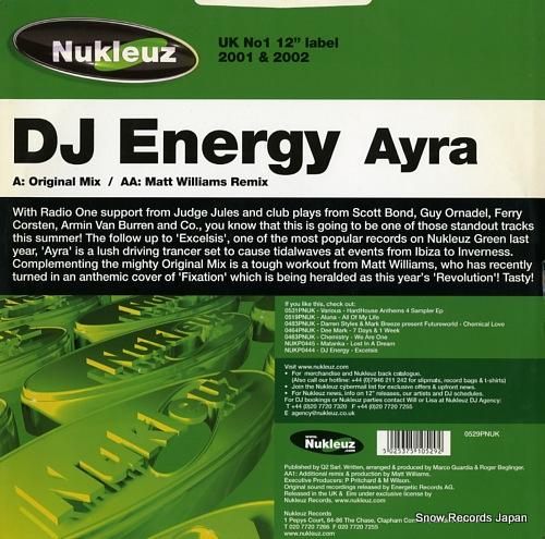 DJ ENERGY ayra 0529PNUK - back cover