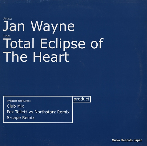 WAYNE, JAN total eclipse of the heart PDT10T - front cover