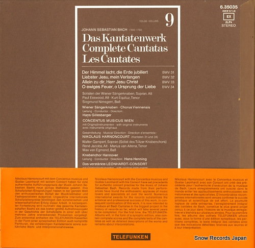 HARNONCOURT, NIKOLAUS bach; complete cantatas volume 9 ISKW-91/2/6.35035/SKW9/1-2 - back cover