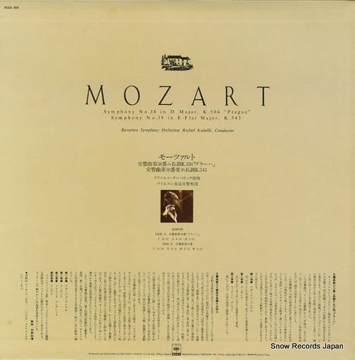 KUBELIK, RAFAEL mozart; symphony no.38 in d major k.504