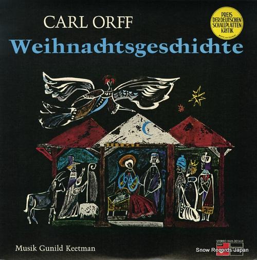 ORFF, CARL orff; weihnachtsgeschichte KUX-3014-H - front cover