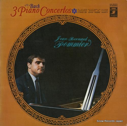 POMMIER, JEAN-BERNARD bach; 3 piano concertos AA-8423 - front cover