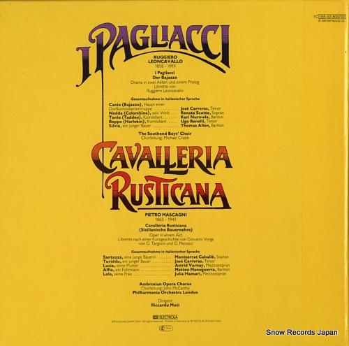 リッカルド・ムーティ leoncavallo; i pagliacci 1C165-03800/02