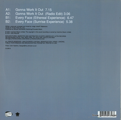 HI-GATE gonna work it out / everyface UL085-6 - back cover