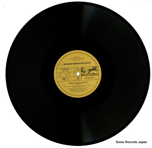 MAUERSBERGER, RUDOLF bach; matthaus-passion 80609XK - disc