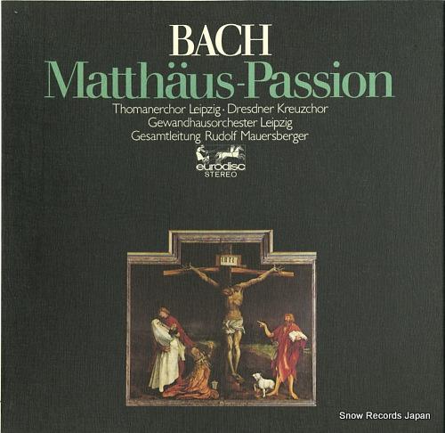 MAUERSBERGER, RUDOLF bach; matthaus-passion 80609XK - front cover