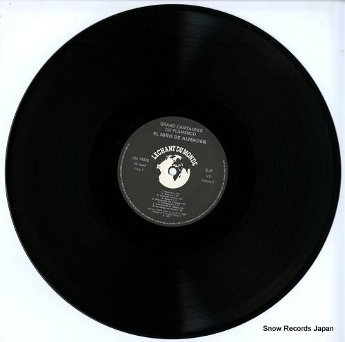 EL NINO DE ALMADEN grands cantaores du flamenco LDX74830 - disc