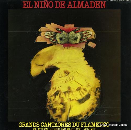 EL NINO DE ALMADEN grands cantaores du flamenco LDX74830 - front cover