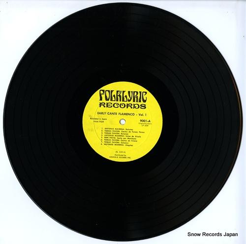 V/A early cante flamenco FOLKLYRIC9001