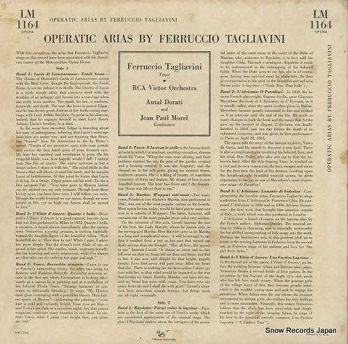 フェルッチョ・タリアヴィーニ operatic scenes LM-1164