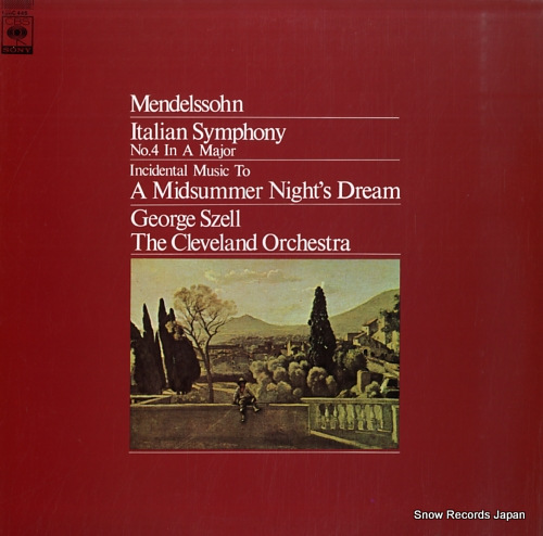 SZELL, GEORGE mendelssohn; italian symphony no.4 in a major 13AC445 - front cover