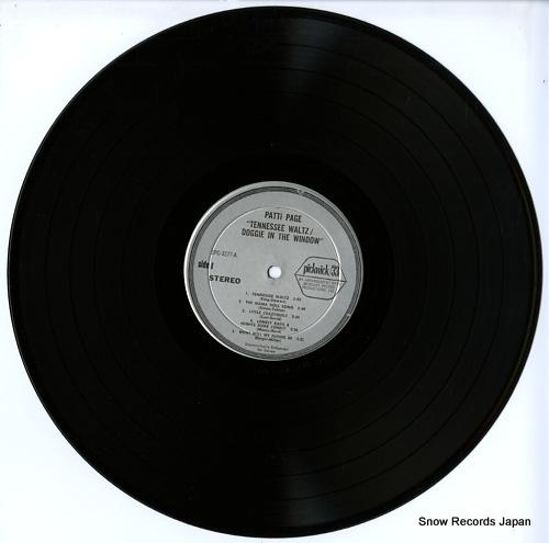 PAGE, PATTI tennessee waltz SPC-3277 - disc