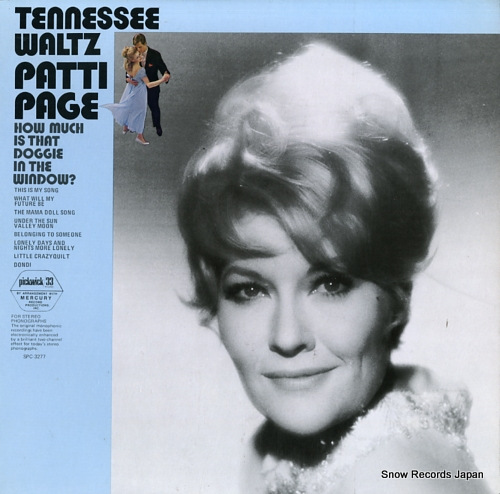 PAGE, PATTI tennessee waltz SPC-3277 - front cover