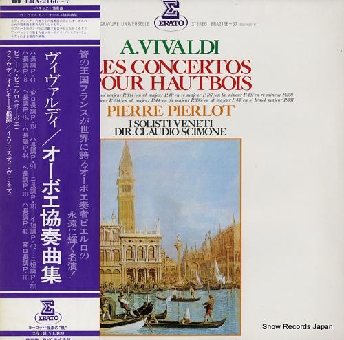 PIERLOT, PIERRE vivaldi; les concertos pour hautbois et orchestre ERA-2166-7 - front cover