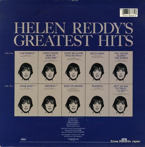 ヘレン・レディ helen reddy's greatest hits SN-16333
