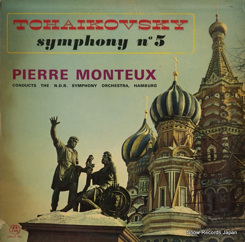 MONTEUX, PIERRE tchaikovsky; symphony no.5 in e minorf op.64 M-2333 - front cover