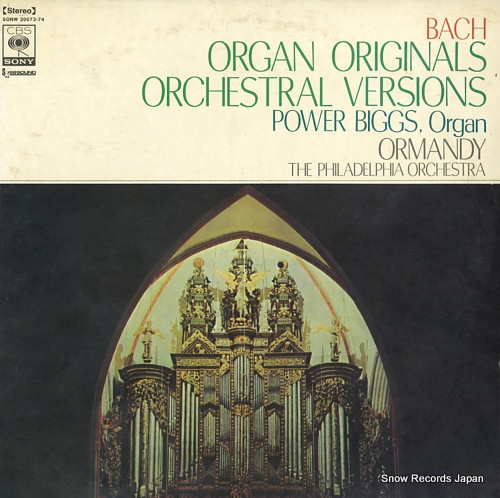 BIGGS, POWER bach; organ originals orchestral versions SONW20073-74 - front cover