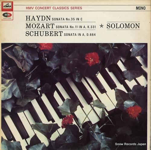 SOLOMON haydn; sonata no.35 in c XLP30053 - front cover