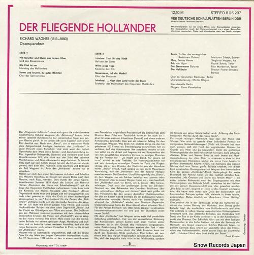 KONWITSCHNY, FRANZ wagner; der fliegende hollander 825207 - back cover