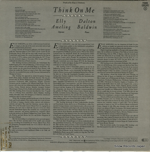 AMELING, ELLY think on me 76989 - back cover