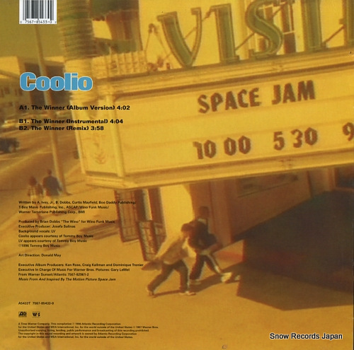 COOLIO the winner A5433T - back cover