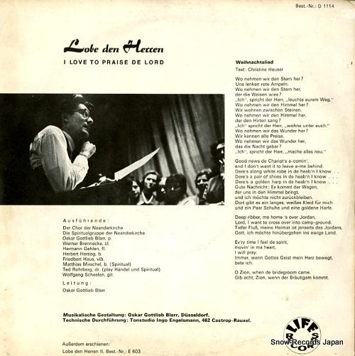 V/A lobe den herren / i love to praise de lord D1114 - back cover