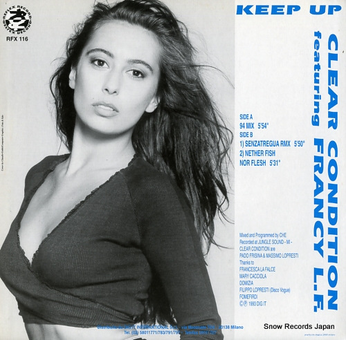 CLEAR CONDITION keep up RFX116 - back cover