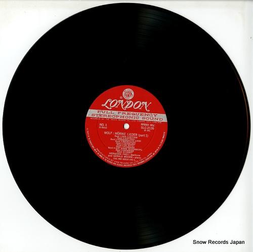 PREY, HERMANN wolf; morike lieder SLC2126 - disc