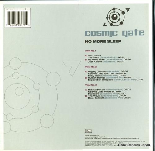 COSMIC GATE no more sleep 724354064715 - back cover