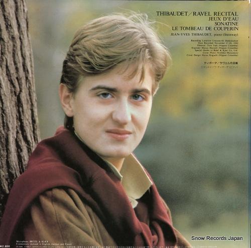 THIBAUDET, JEAN-YVES ravel recital OF-7065-ND - back cover