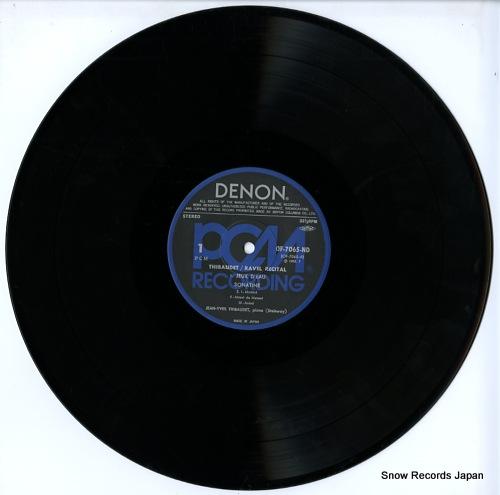 THIBAUDET, JEAN-YVES ravel recital OF-7065-ND - disc