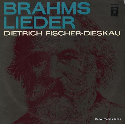 FISCHER-DIESKAU, DIETRICH brahms; lieder AB-8079 - front cover