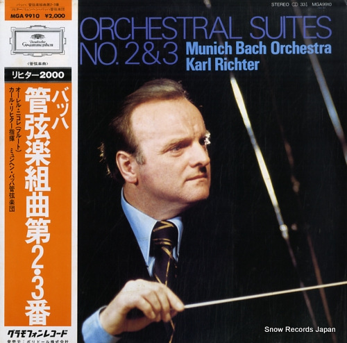 RICHTER, KARL bach; orchestral suite no.2 & 3 MGA9910 - front cover
