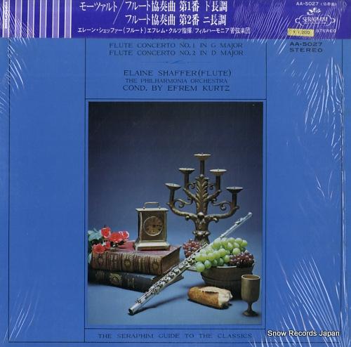 SHAFFER, ELAINE mozart; flute concerto no1. / no.2 AA.5027 - front cover