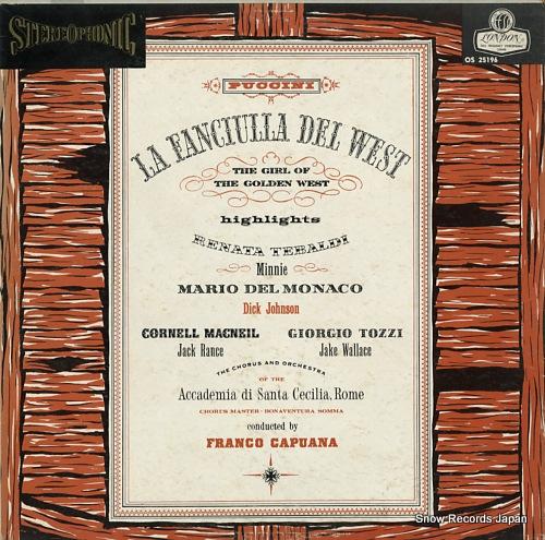 CAPUANA, FRANCO puccini; la fanciulla del west-highlights OS25196 - front cover
