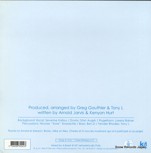 GAUTHIER, GREG, AND TONY L where has love gone KIF023 - back cover