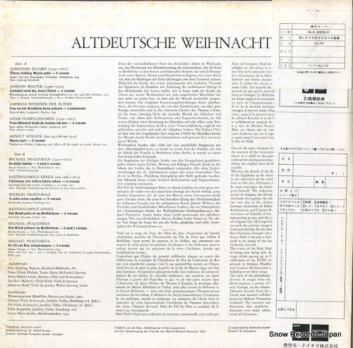 AMELING, ELLY altdeutsche weihnacht ULX-3063-H - back cover