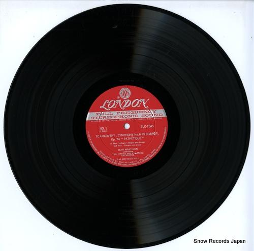 MARTINON, JEAN tchaikovsky; pathetique symphony no.6 in b minor SLC1545 - disc