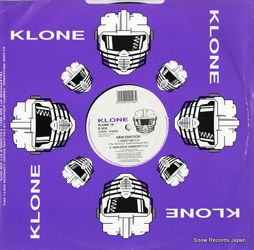 NEW EMOTION don't go KLONE19 - back cover
