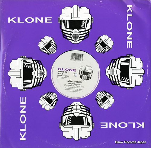 NEW EMOTION don't go KLONE19 - front cover
