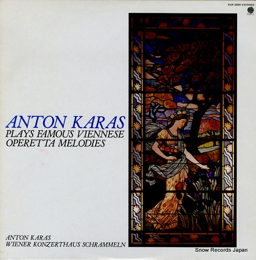 KARAS, ANTON plays famous viennese operetta melodies KUX-3284-V - front cover