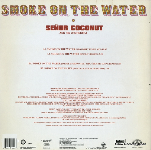 SENOR COCONUT AND HIS ORCHESTRA smoke on the water MCR124.0 - back cover