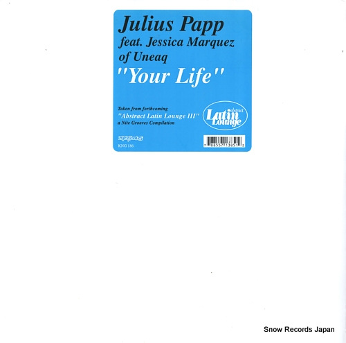 PAPP, JULIUS your life KNG186 - front cover